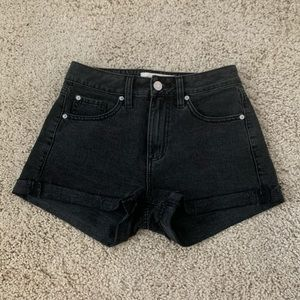 Black Garage Denim Shorts